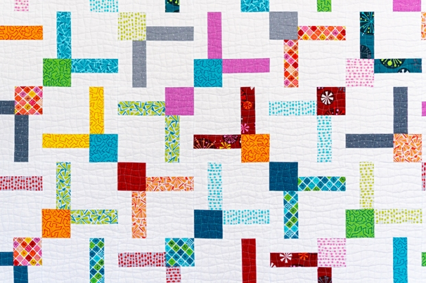 machine quilting detail by christa watson