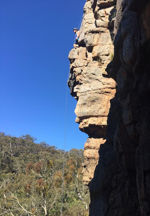 Rock climbing in Australia