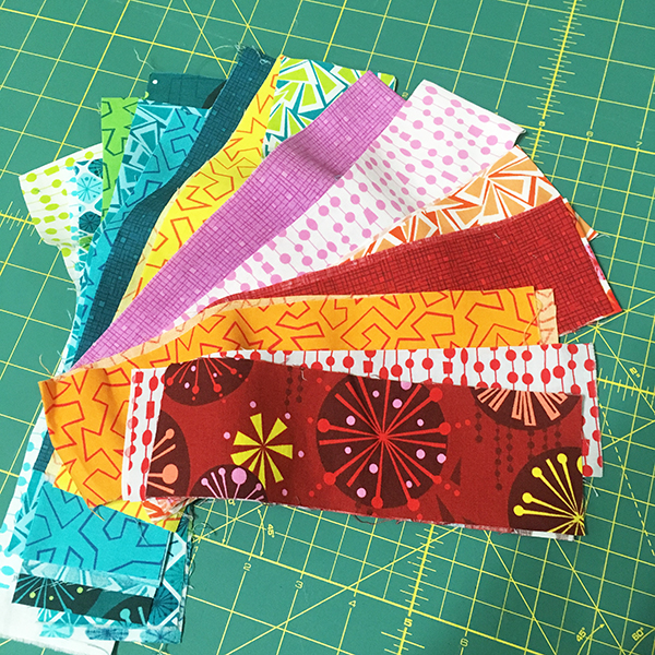Binding from leftover jelly roll strips
