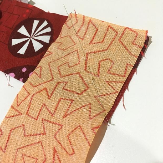 Sewing binding strips
