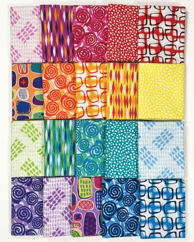 Abstract Garden Fat Quarters by Christa Watson for Benartex