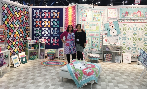Christa Watson and Cherry Guidry at Fall Quilt Market for Benartex Contempo