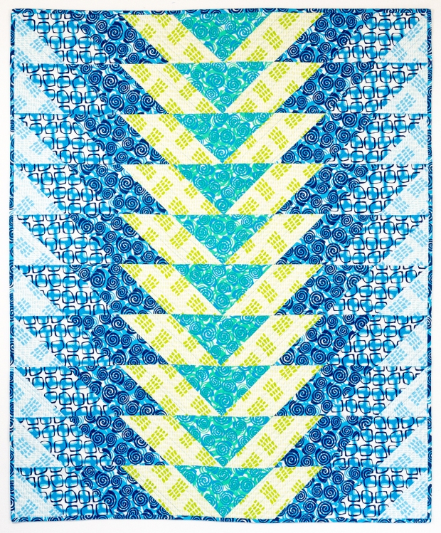 Geese in the Garden quilt pattern featuring Abstract Garden