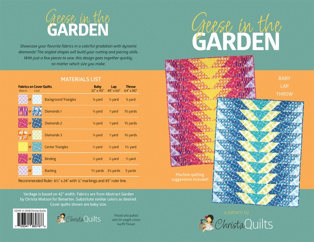 Geese in the Garden quilt pattern