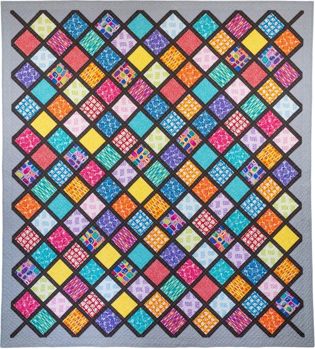 LatticeWork Quilt Made from Abstract Garden