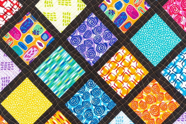 Latticework quilting detail