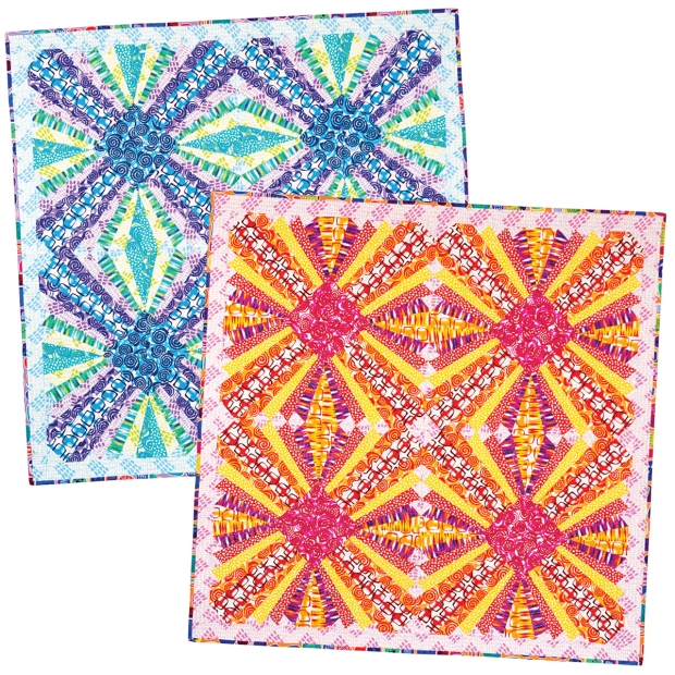 Pieced Primrose Quilts Made from Abstract Garden