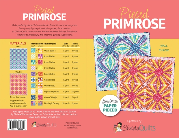 Pieced Primrose Pattern Cover