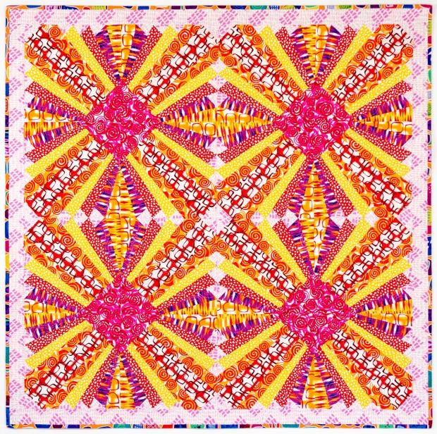 Pieced Primrose Warm Colorway