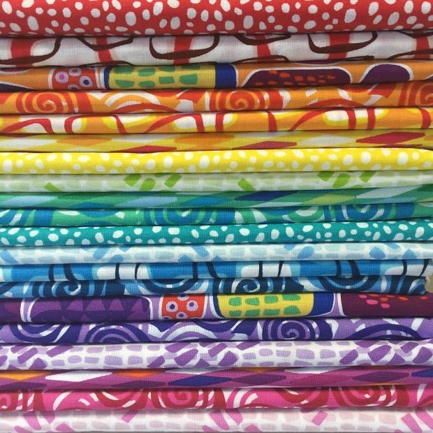 Abstract Garden Fabric