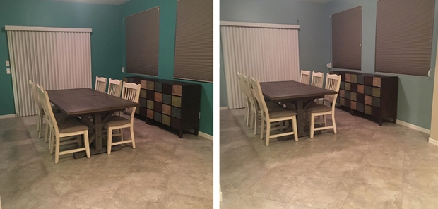 Dining Room Before and After