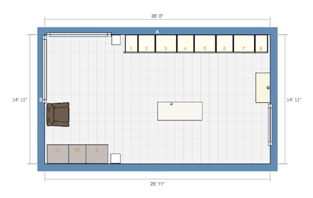 Sewing Room Floorplan