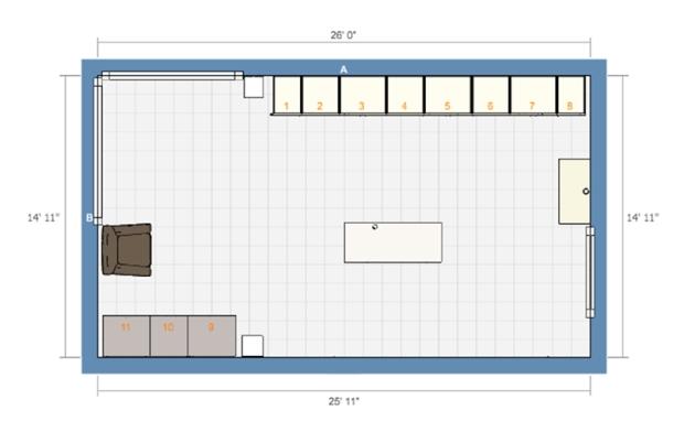 Sewing Room Floorplan