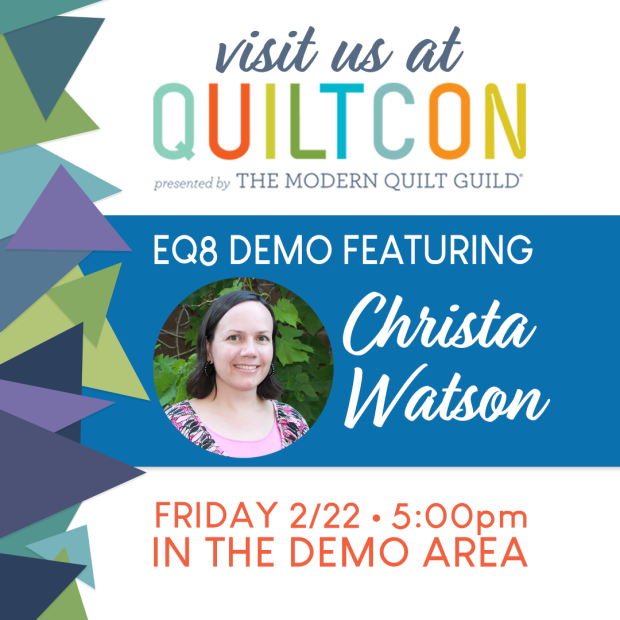 Christa EQ and QuiltCon