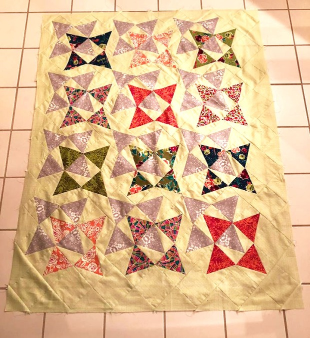 Robin P's Blooming Wallflowers quilt