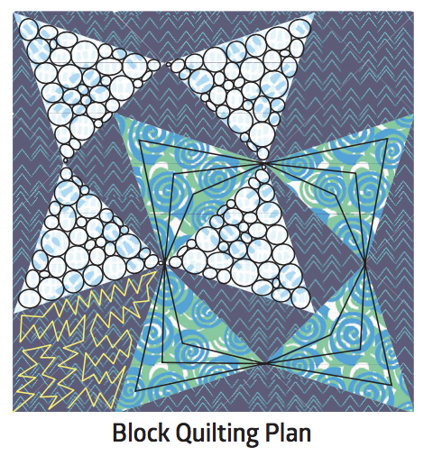 Blooming Wallflowers Block Quilting Plan