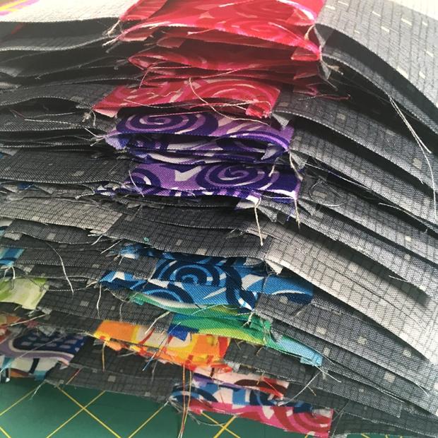 Rainbow Weave Quilt blocks