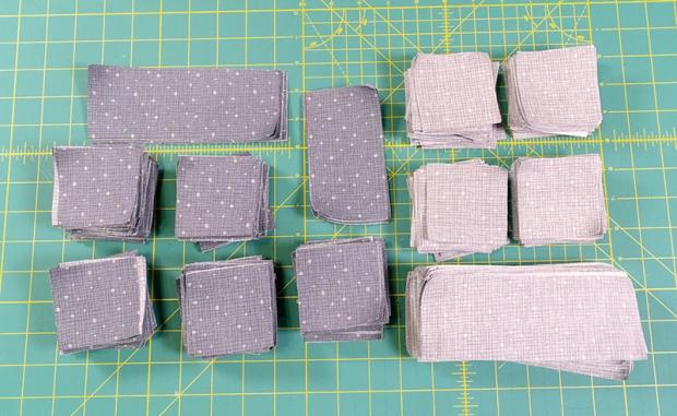 Fandangle Gray Confetti Crosshatch by Christa Watson for Benartex