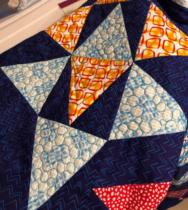 Machine Quilting detail by Laina L on Blooming Wallflowers