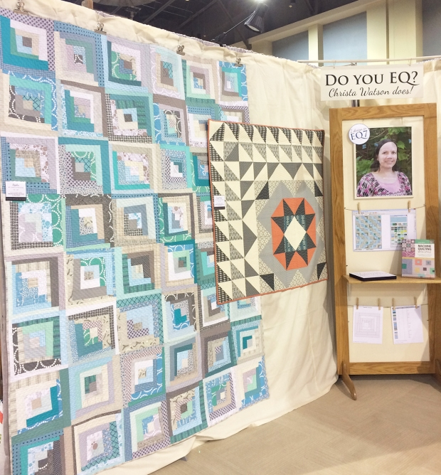 Christa and EQ at QuiltCon 2017