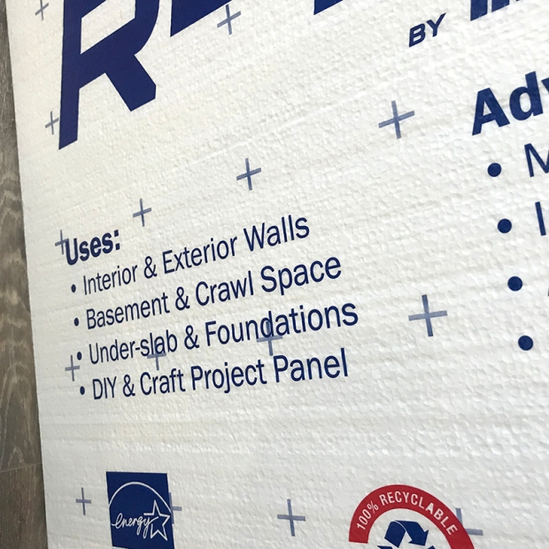 Foam Insulation boards writing