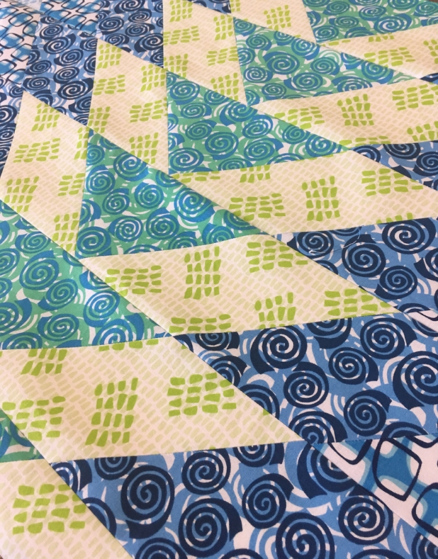 Geese in the Garden quilt featuring Abstract Garden by Christa Watson