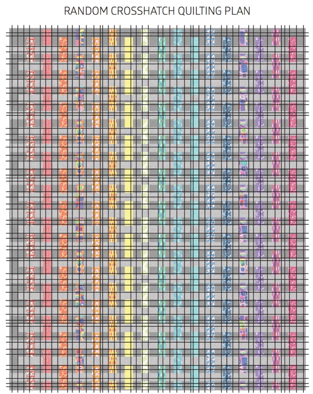 Random Crosshatch quilt plan