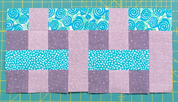 Rainbow Weave Turquoise Blocks