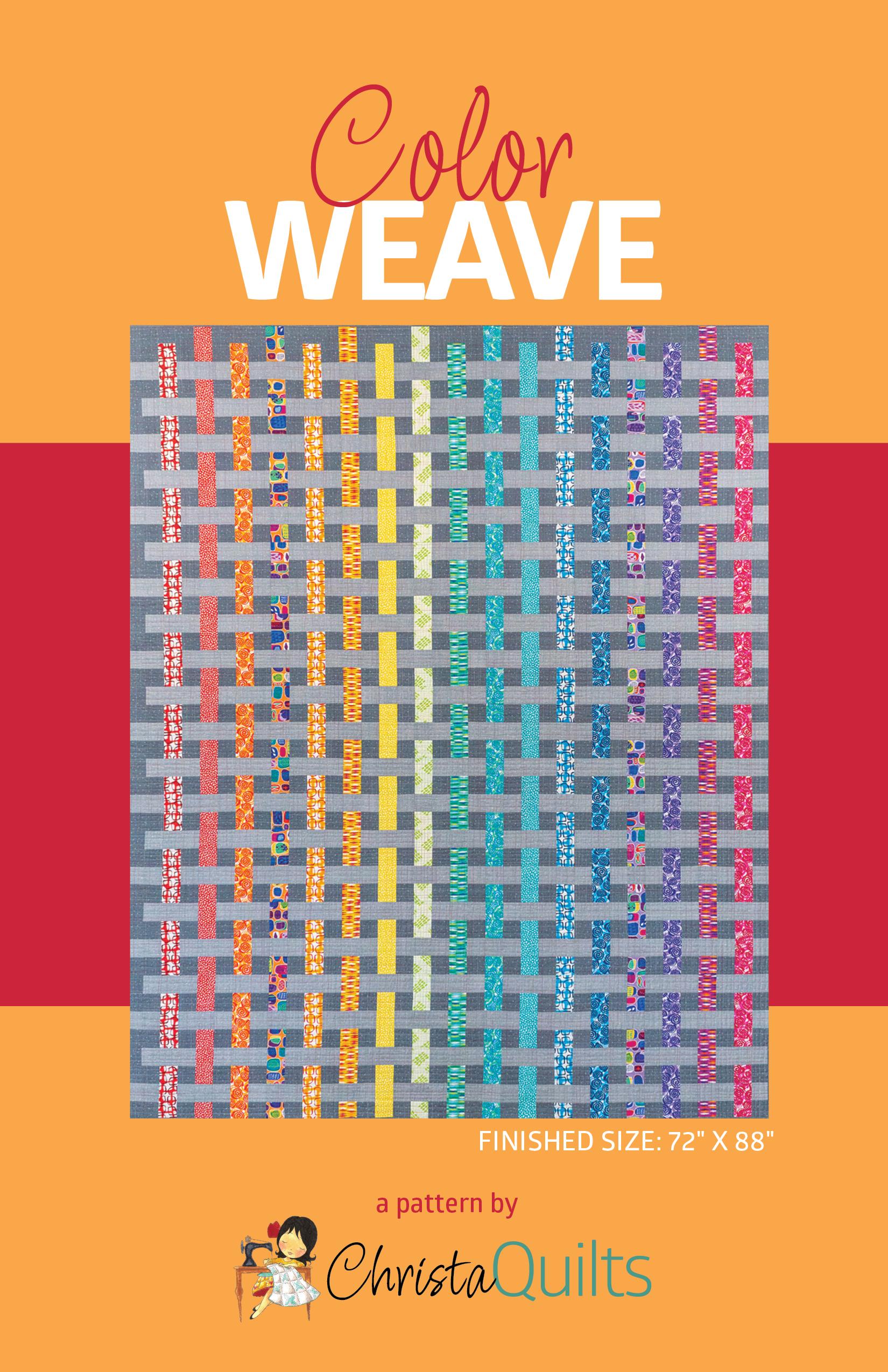 Color Weave Quilt Pattern