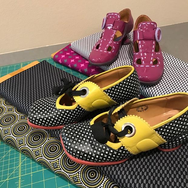Geo Pop Fabric Fluevog Shoes