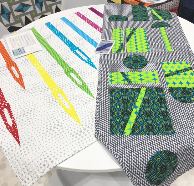 Mini Quilts Made from Geo Pop by Christa Watson for Benartex