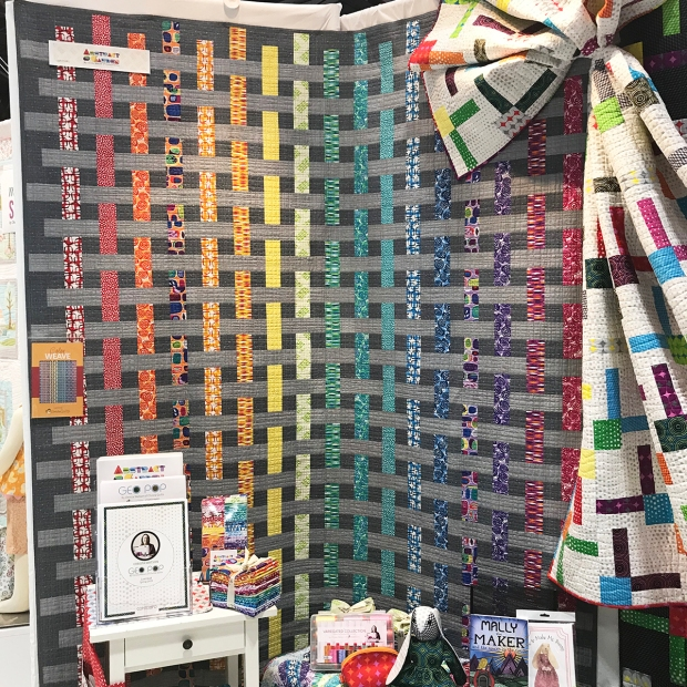 Color Weave Quilt from Abstract Garden