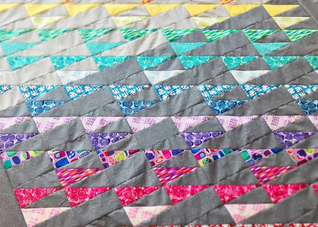 Free Quilt Pattern Featuring Abstract Garden Fabric In