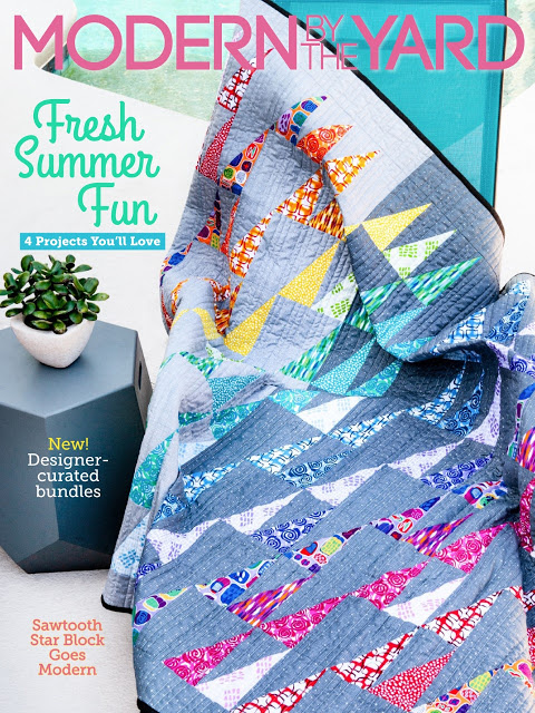 Free Quilt Pattern Featuring Abstract Garden Fabric in Modern by the Yard