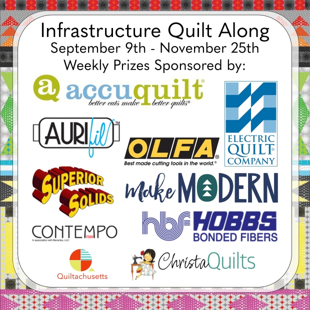 Infrastructure Quilt Along Sponsors