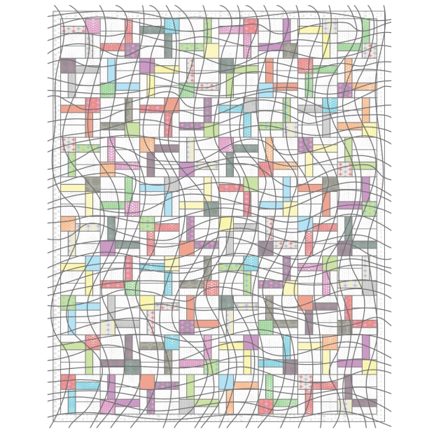 Wavy Grid Quilting