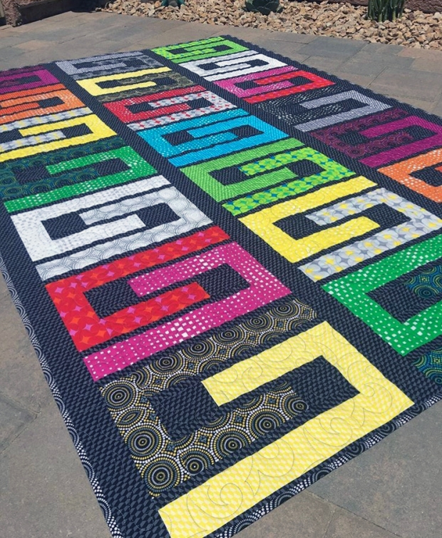 Colour Maze Quilt using Geo Pop