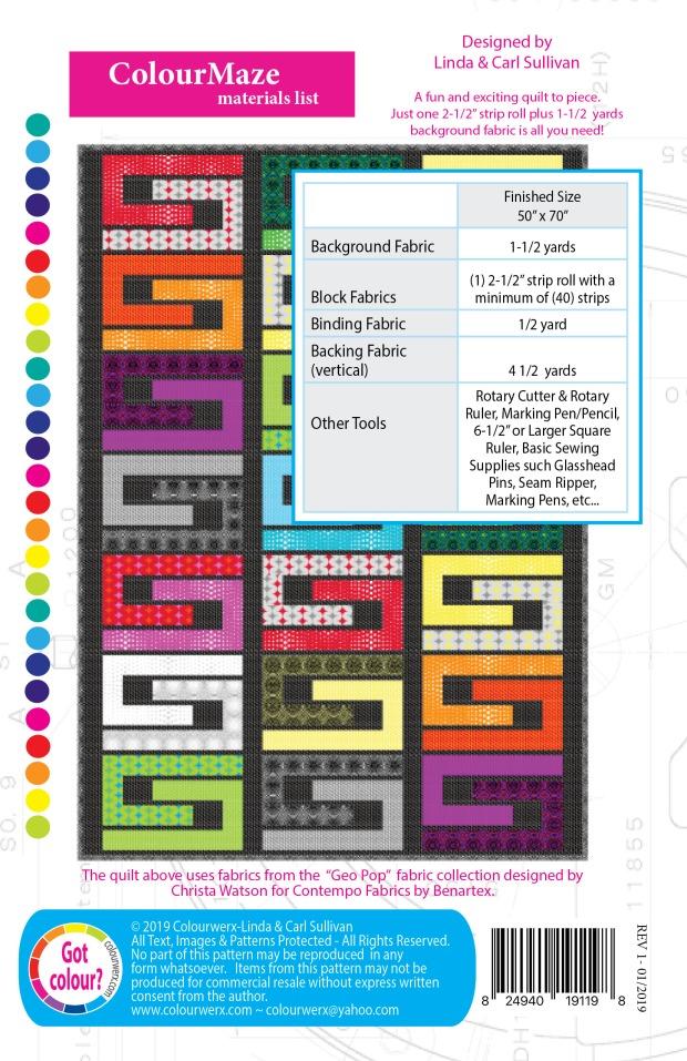 Colour Maze with Geo Pop fabric