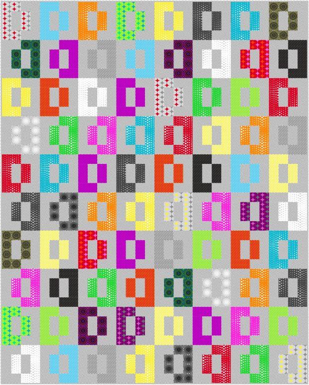 Modern Puzzle Quilt