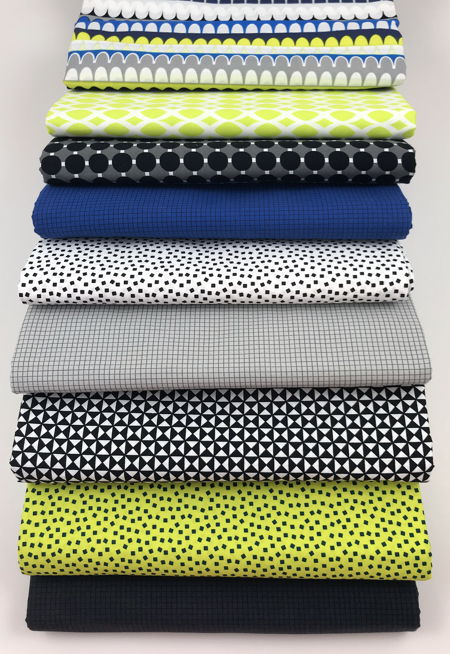 Gridwork Citron by Christa Watson for Benartex