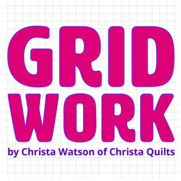 Gridwork Fabric by Christa Watson