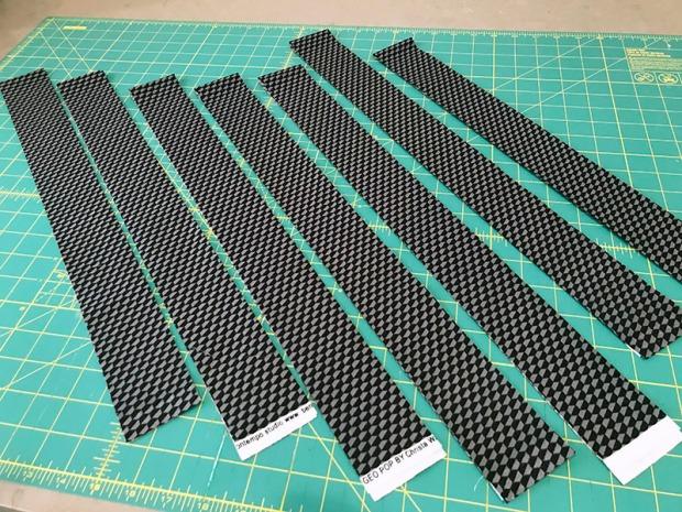 Geo Pop fabric for binding