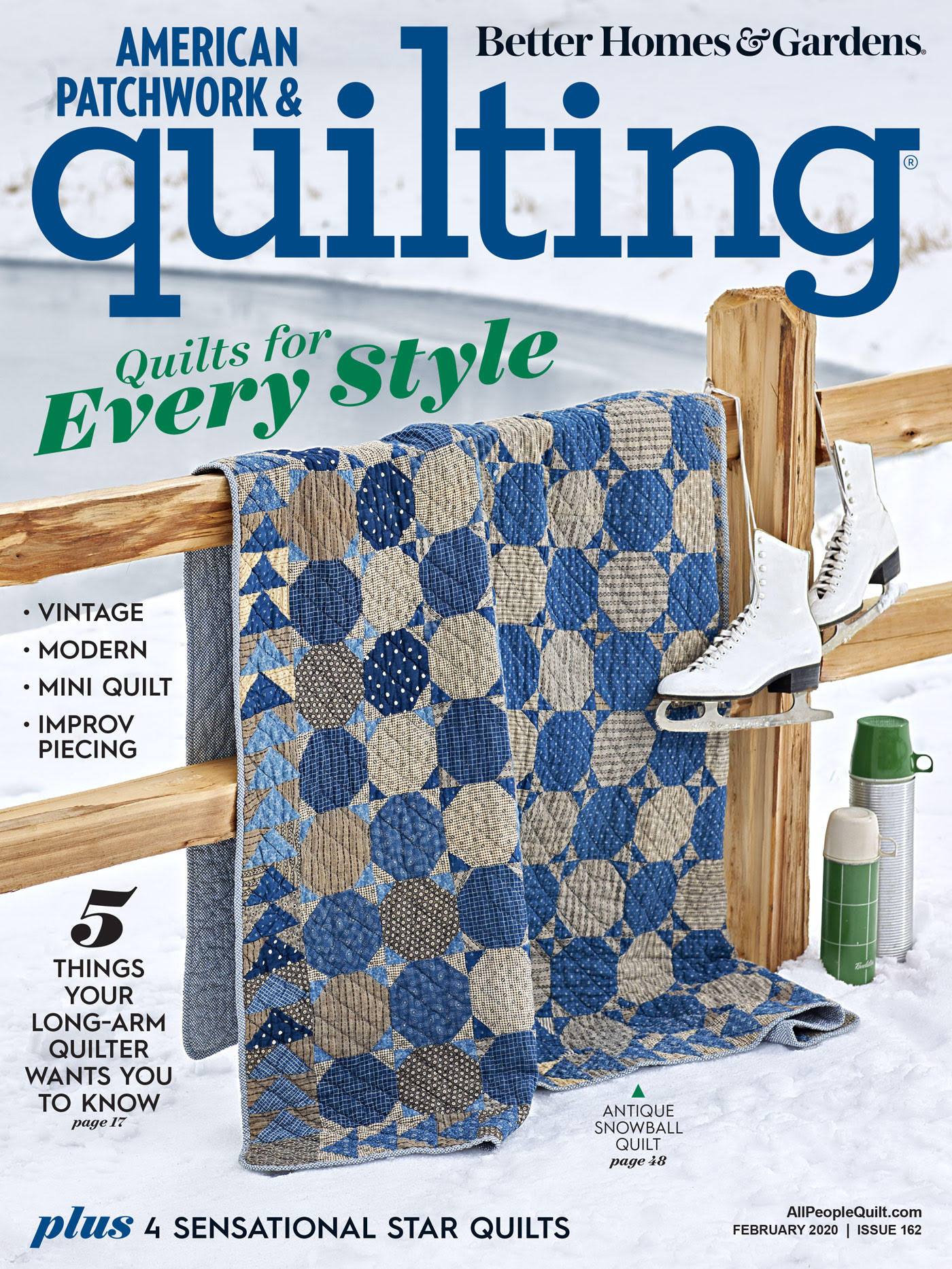 American Patchwork and Quilting Cover Feb 2020