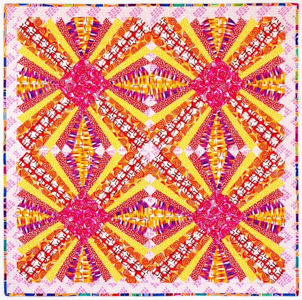 Pieced Primrose Abstract Garden Warm