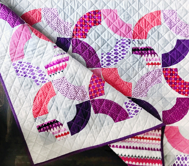 Why Knot Quilt in Amethyst Gridwork