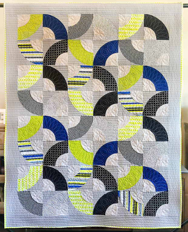Why Knot by Heather Black, Gridwork fabric by Christa Watson