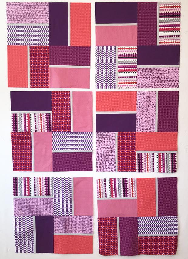 Terrace Tiles Quilt Amethyst Colorway