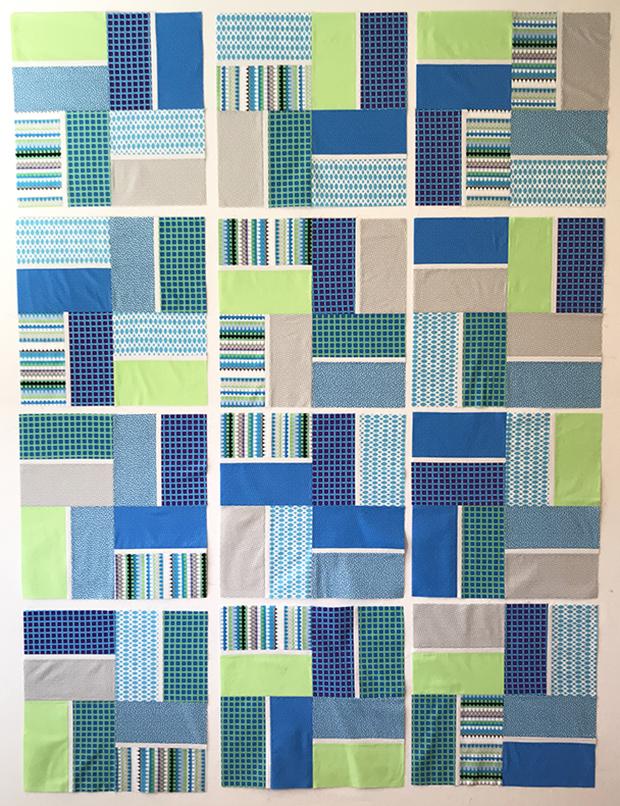 Terrace Tiles Quilt Breeze colorway