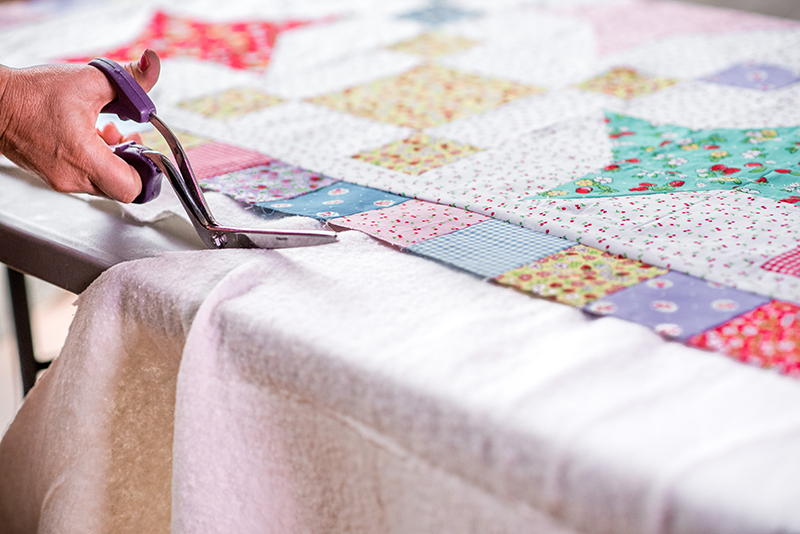 Quilt Basting with Christa