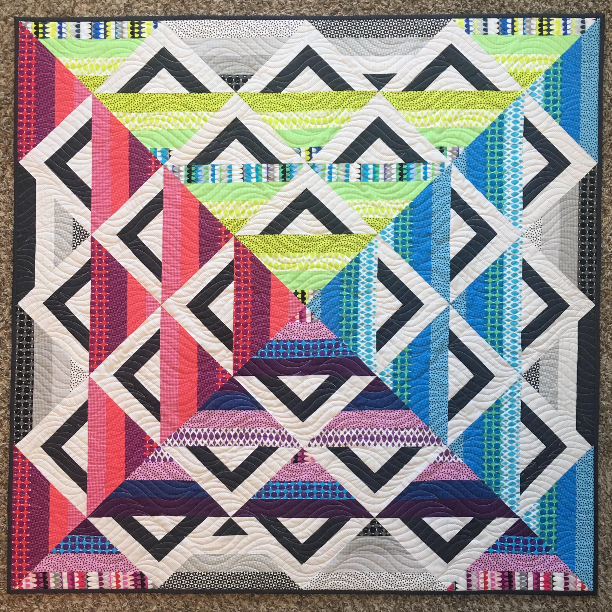 Paint Box Quilt Gridwork Fabric